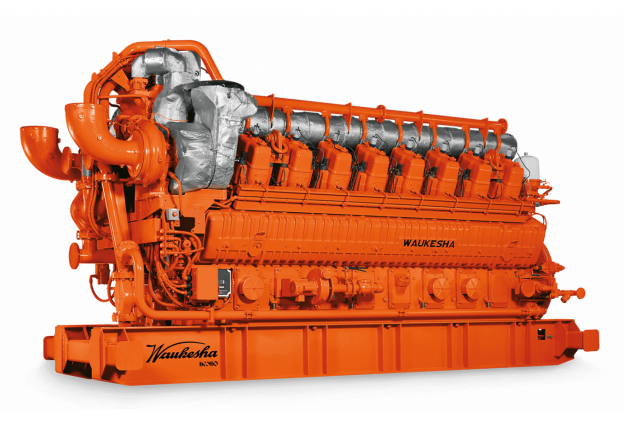 Front View of a Waukesha 275GL Plus Gas Engine / branded