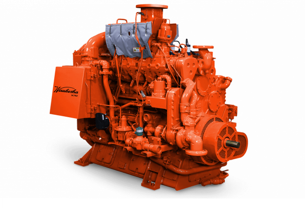 Front View of a Waukesha VGF Gas Engine / branded