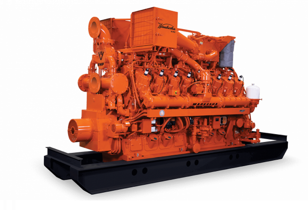 Front View of a Waukesha VHP Gas Engine / branded